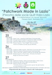 PATCHWORK MADE IN LAZIO - Bomarzo 25-27/09/2015