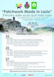 PATCHWORK MADE IN LAZIO - Bomarzo 25-27/09/2015
