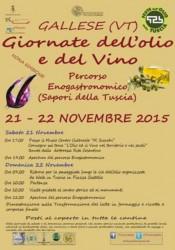 GIORNATE DELL'OLIO E DEL VINO - Gallese 21-22/11/2015