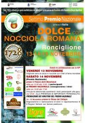 PREMIO NAZIONALE DOLCE CON NOCCIOLA ROMANA - Ronciglione 13-15/11/2015
