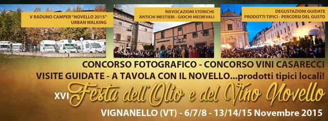 FESTA OLIO E VINO NOVELLO - Vignanello 6-15/11/2015