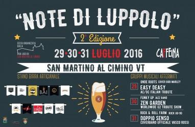 NOTE DI LUPPOLO - 29-31 Luglio 2016 San Martino