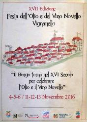 FESTA DELL'OLIO E DEL VINO NOVELLO - Vignanello 4-13 novembre