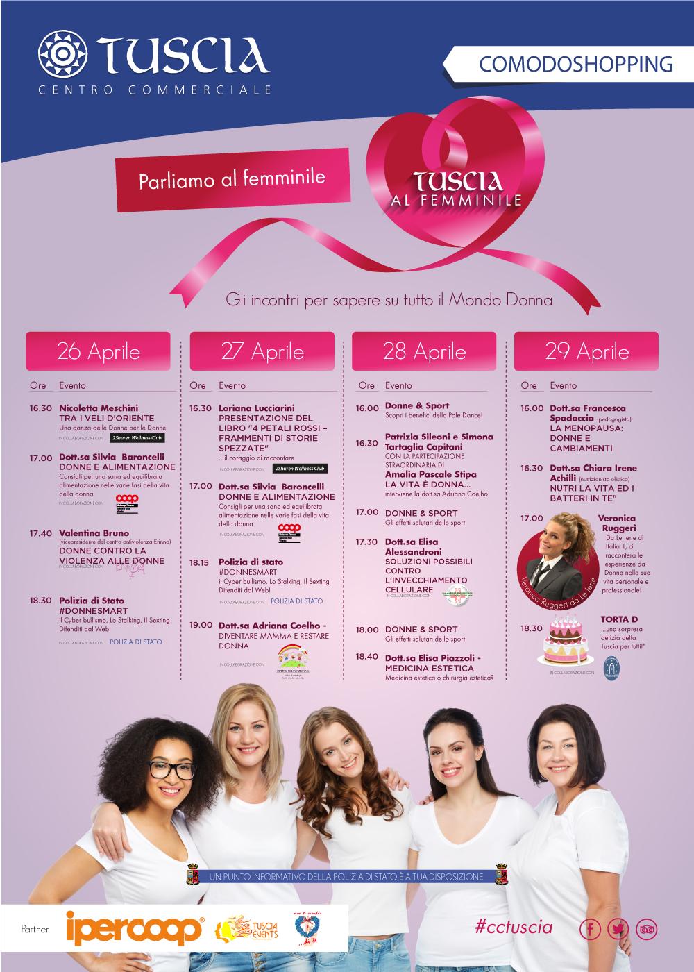 Tuscia Eventi Appuntamenti Tuscia Al Femminile Protagonisti La Salute Ed Il Benessere Delle Donne